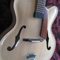 Maple and Sitka jazz guitar, a la natural